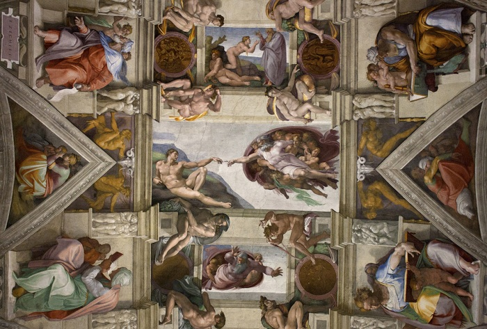 Потолок Сикстинской капеллы. | Фото: whoa.fm.