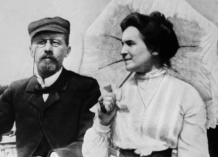 Антон Чехов и его жена Ольга Книппер. | Фото: img-fotki.yandex.ru.