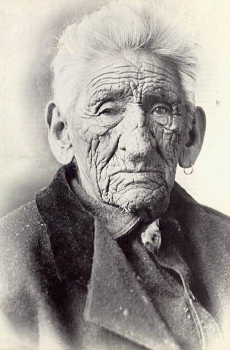 Джон Смит - индеец, который прожил 138 лет.  Фото: rarehistoricalphotos.com.