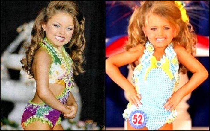 Маленькие участницы детских конкурсов красоты в Америке. | Фото: funguerilla.com.