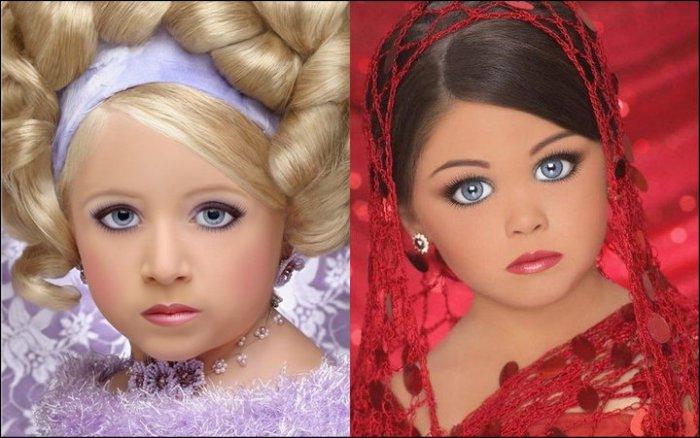 Девочки, больше напоминающие кукол. | Фото: funguerilla.com.