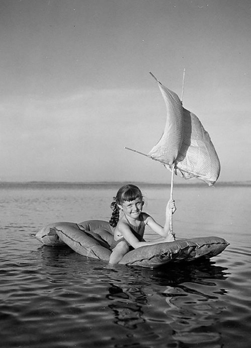 Ретро-снимок. Тулон, Франция, 1949 год.