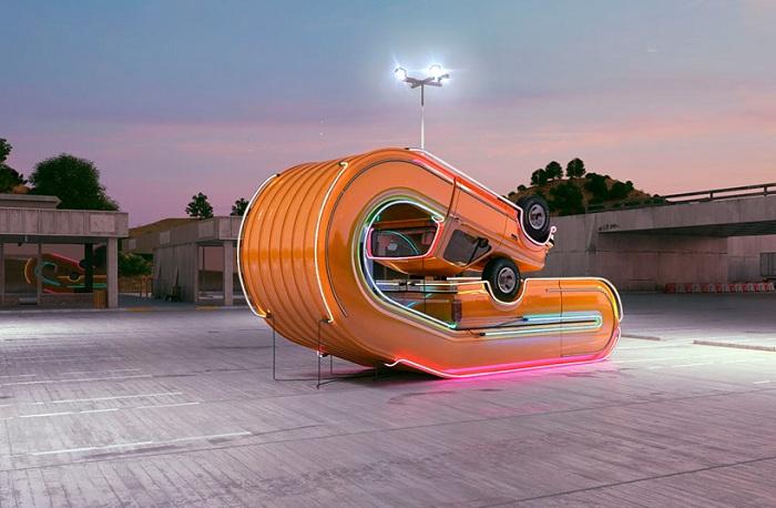 «Истории пластичности автомобилей» - инсталляция художника Chris Labrooy.