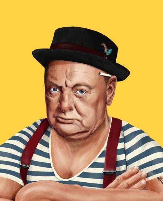 Winston Churchill в роли хипстера.