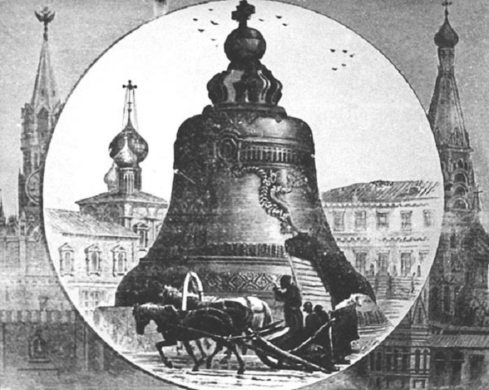 Ретро-фото Царь-колокола.  Фото: derzski.ru.