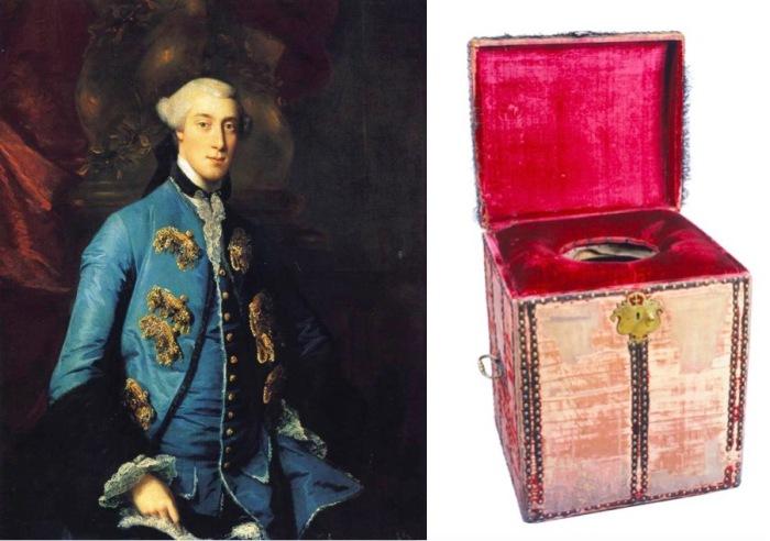 Фрэнсис Хастингс, 10-й граф Хантингтон - хранитель королевского стула Георга III.