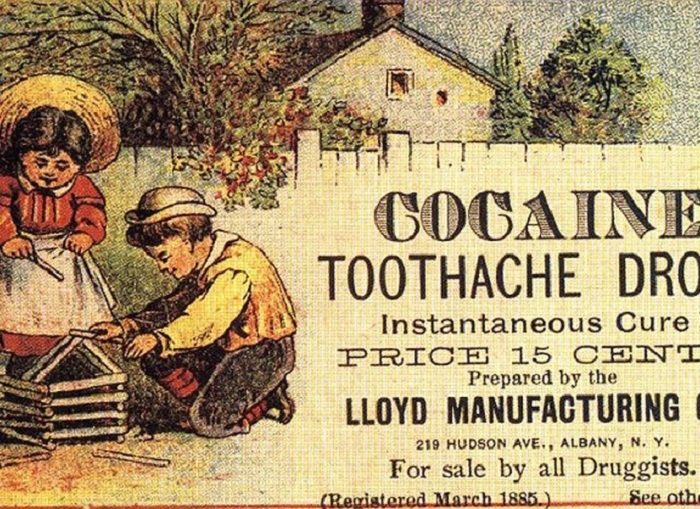 Кокаин как средство от детской зубной боли в XIX веке..   Фото: colors.life.
