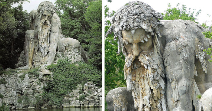 10-метровая скульптура, расположенная на вилле Villa di Pratolino.