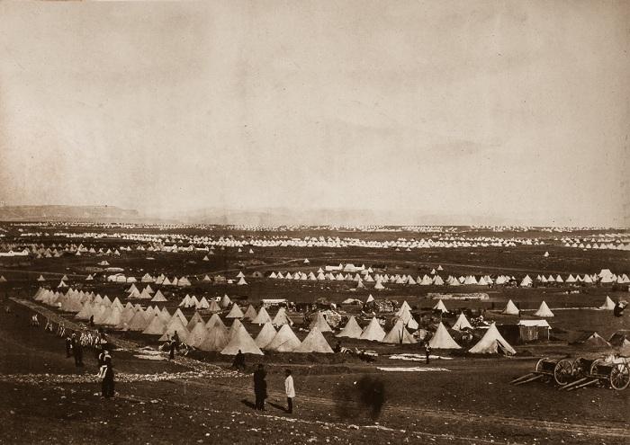 Лагерь Союзников у Севастополя.