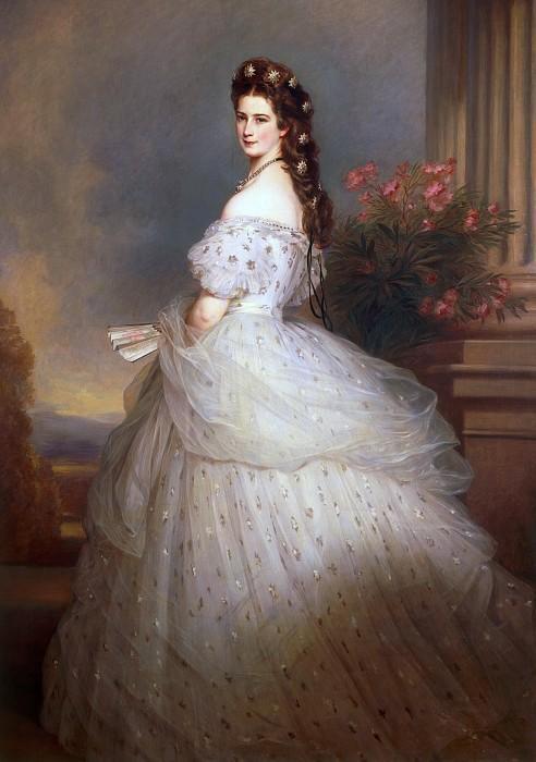 Портрет Елизаветы Баварской, королевы Австрии. 1864 год.