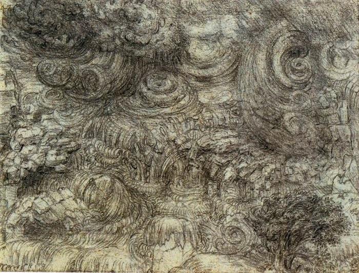 Потоп. Леонардо да Винчи, 1517-1518 гг. | Фото: i0.wp.com.