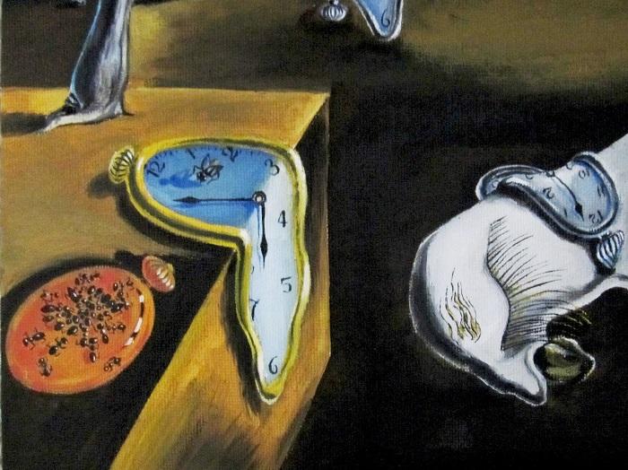 La persistencia de la memoria. Фрагмент. | Фото: maria-art.com.