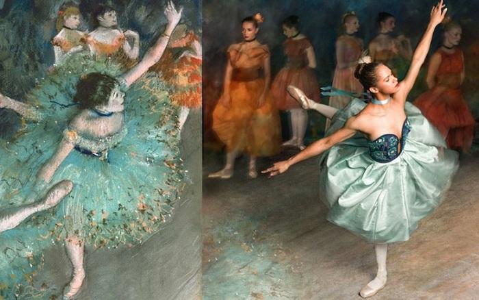 «Танцовщица в зеленом» и прима-балерина Misty Copeland.