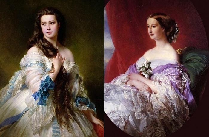 Портреты, написанные немецким художником Franz Xaver Winterhalter.