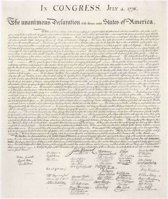 Декларация независимости США 1776 года.   Фото: vse-krugom.ru.