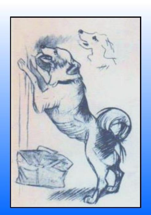 Эскиз собаки для картины «Опять двойка». | Фото: fs00.infourok.ru.