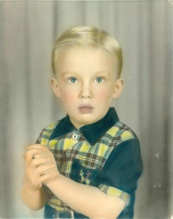Дональд Трамп в детстве. | Фото: allday.com.