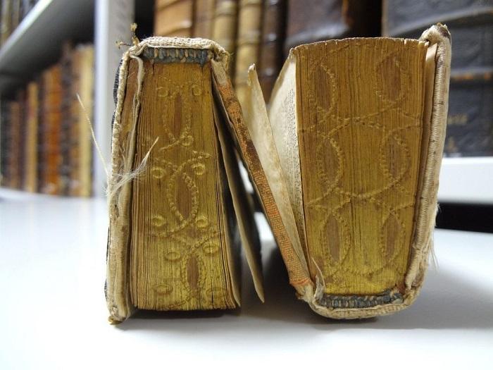 Уникальная старинная книга, которую можно читать с двух сторон. | Фото: amusingplanet.com.