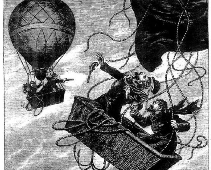 Дуэль на воздушном шаре. | Фото: 19thcenturyrealism.com.