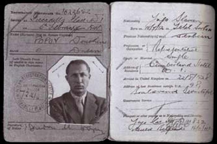 Душан Попов - двойной агент во времена Второй мировой войны. | Фото: cs623916.vk.me.