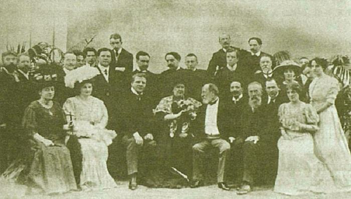 Участники «Русских исторических концертов в Париже» в гостях у Сен-Санса. 1907 год. | Фото: sjs-dev.telecom-assist.ru.