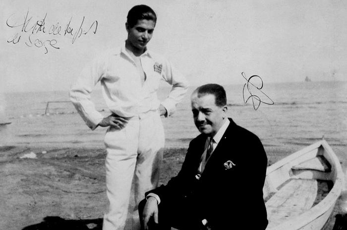 Сергей Дягилев и Серж Лифарь. Лондон, 1928 год. | Фото: orloffmagazine.com.