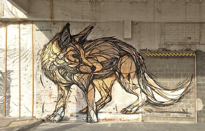 «Золотой волк», нарисованный художником Dzia.