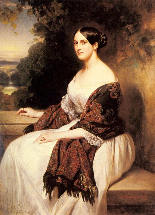 Портрет мадам Акерман, жены главного министра финансов короля Луи Филиппа.