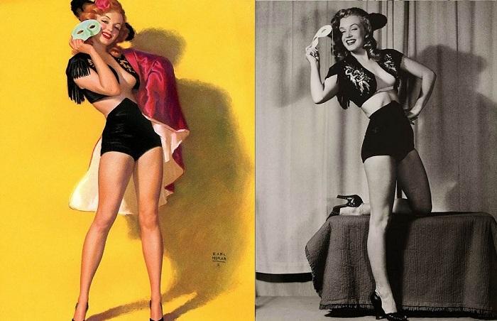 Начинающая актриса Мэрилин Монро работала моделью за 10 долларов в час.