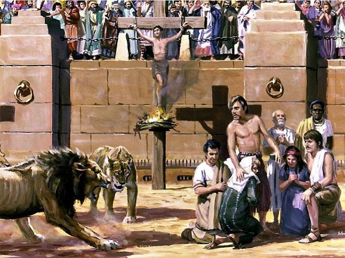 Христиане, отданные на растерзание диким зверям. | Фото: londonru.com.