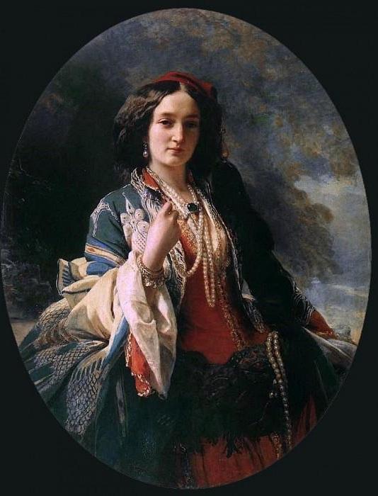 Портрет Екатерины Браницкой. 1854 год.