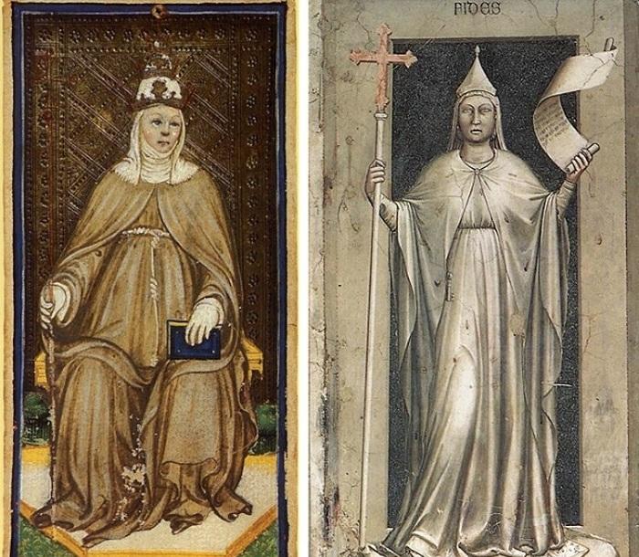 Средневековые изображения женщины-папы.