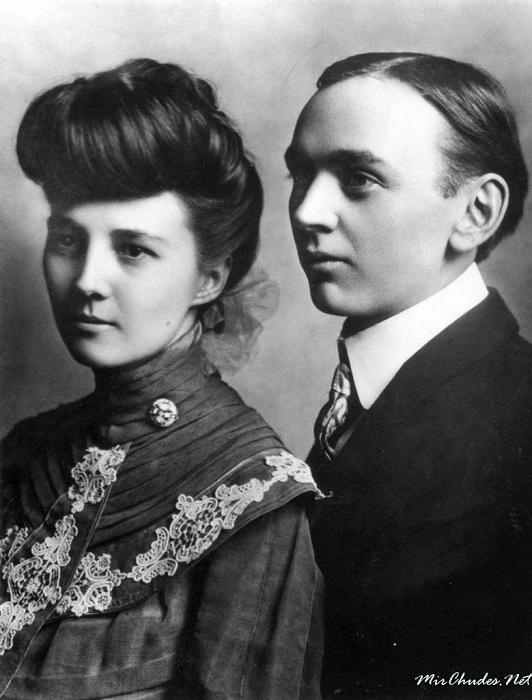 Эдгар Кейси с супругой Гертрудой. | Фото: mirchudes.net.