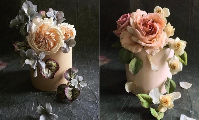 Сахарные цветы от кондитера Мэгги Остин. | Фото: mymodernmet.com.