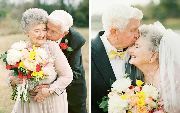 Трогательная фотосессия пары, которая уже 63 года вместе.