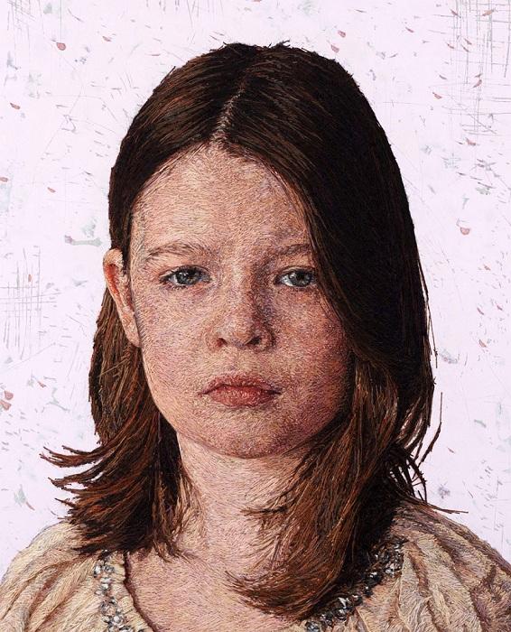 Вышитый портрет.