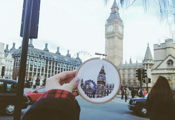 Вышивка. Лондон.