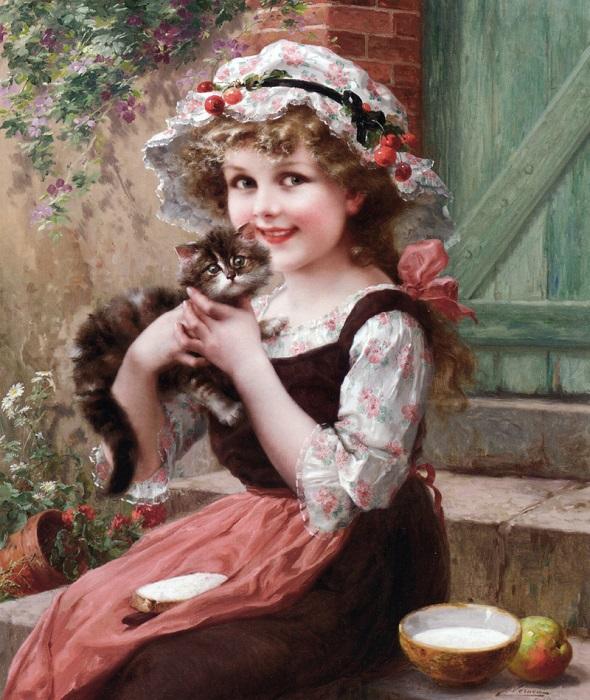 Маленькие котята. Э. Вернон, 1919 год. | Фото: fiveminutehistory.com.