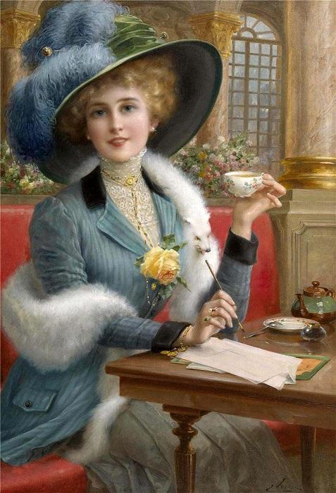 Элегантная леди. Э. Вернон. | Фото: fiveminutehistory.com.