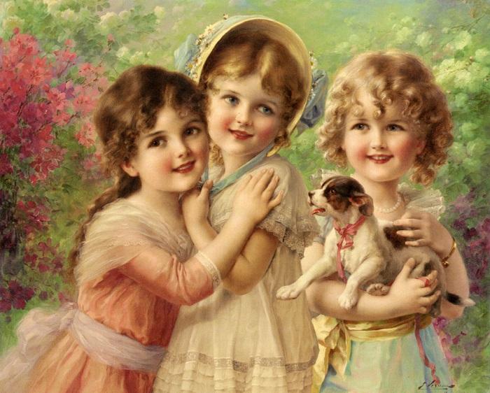 Лучшие друзья. Э. Вернон, 1917 год. | Фото: fiveminutehistory.com.