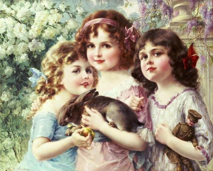 Три грации. Э. Вернон. | Фото: fiveminutehistory.com.