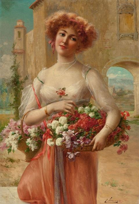 Розы. Э. Вернон, 1908 год. | Фото: fiveminutehistory.com.