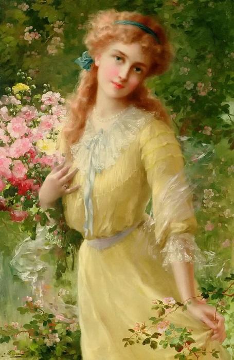 Портрет девочки. Э. Вернон. | Фото: fiveminutehistory.com.