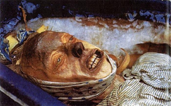 Мумия одного из членов экспедиции Франклина, обнаруженная на острове Биши в начале 1980-х гг.   Фото: diletant.media.