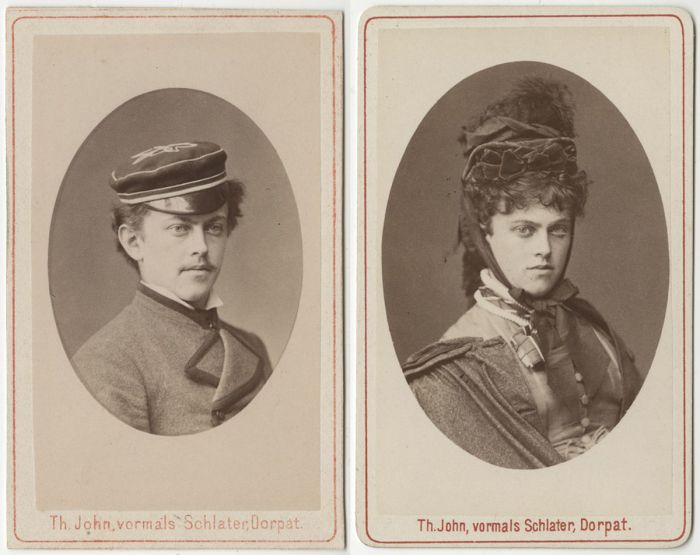 Ferdinand Hоrschelmann - студент, переодевшийся в женское платье, 1875 г.