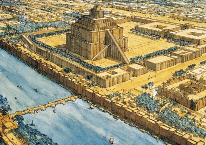 Зиккурат - многоступенчатое сооружение в центре Вавилона. | Фото:  megaconstrucciones.net.