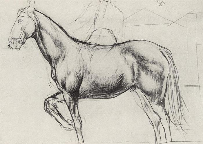 Этюд для картины «Купание красного коня». | Фото: images61.fotki.com.