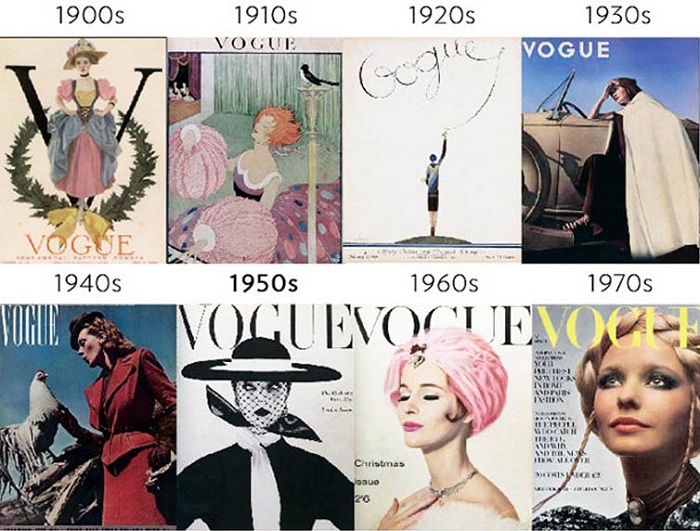 Эволюция модного глянца  как изменились обложки журналов за ... 8e0ab0d0e86
