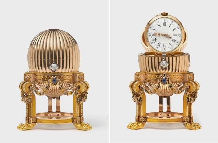 Яйцо Фаберже с часовым механизмом. | Фото: jewellerymag.ru.