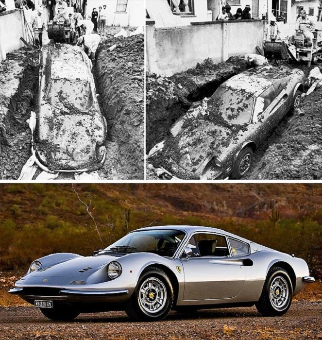 В 1978 году дети раскопали Ferrari Dino 246 GTS. | Фото: dream.co.id.